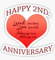2nd wedding anniversary 2nd wedding anniversary stickers redbubble