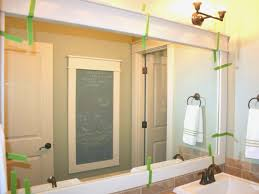 peahen pad framing an existing bathroom mirror the stylish framing an existing bathroom mirror for house room
