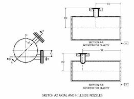 specifying nozzle ports on cylindrical vessels
