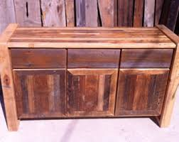 Reclaimed Wood Storage Cabinet Reclaimed Credenza Etsy