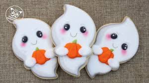 kawaii ghost cookies with sweet sugarbelle halloween cutter kit