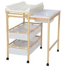 la commode à langer avec baignoire tectake table a langer org