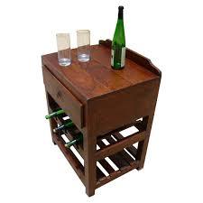 wine rack side table solid wood wine rack single drawer side table