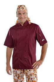 veste cuisine couleur veste de cuisine bordeaux à manches courtes vetement de cuisine