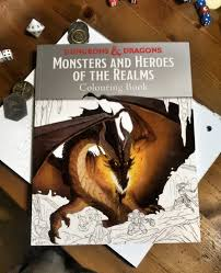 official dungeons u0026 dragons colouring book dyson u0027s dodecahedron