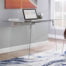 Mainstays Glass Top Desk by Glass Desks You U0027ll Love Wayfair