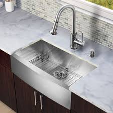 Kitchen Sink Set by Ada Compliant Farmhouse Sink Including Vigo Premier Copper