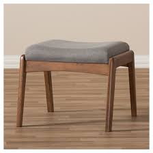 roxy mid century modern wood finish and fabric upholstered