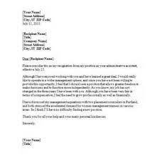 resignation letter resignation letter for leaving job formats