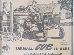 1947 farmall tractor farmall cub tractor framed advertisement