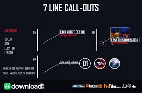 7 line call outs videohive template free download free