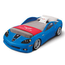 corvette beds step2 corvette z06 convertible toddler to bed with lights