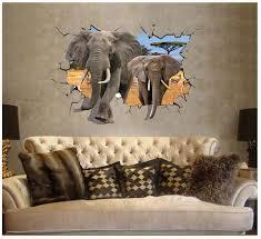 elephant living room 2pcs set 3d elephant living room bedroom large wall stickers floor