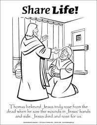 share coloring doubting thomas downloadable