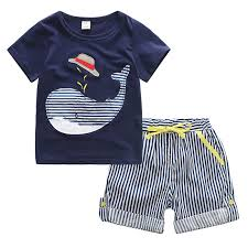 child summer t shirts shorts clothes suit for baby boys