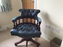 Leather Captains Chairs Captains Chair Blue Leather In Auchterarder Perth And Kinross
