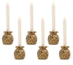 set of 6 batteryoperated window candles with timer by valerie
