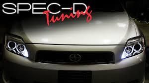 2006 Scion Tc Tail Lights Specdtuning Installation 2005 2009 Scion Tc Head Lights