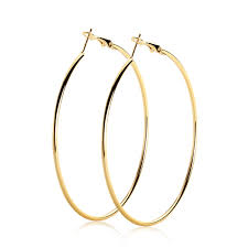 h earrings 1 pairs large h earrings big metal thin hoops silver gold 10cm 9cm