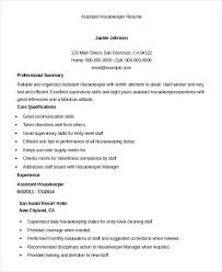 Example Of Special Skills In Resume by Housekeeping Resume Example 9 Free Word Pdf Documents Download