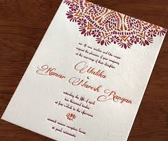 indian wedding invitations indian letterpress wedding card malika invitations by ajalon