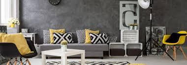 coussin canapé gris quelles couleurs assortir dans un salon gris cdiscount