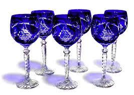 Cobalt Blue Crystal Vase Crystal Gifts Stemware Vases Rare Colors European Quality