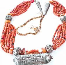 coral necklace silver images Yemeni silver amber coral necklace jpg