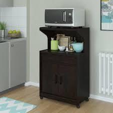 microwave cabinet with shelves espresso walmart com