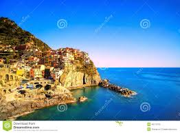 Manarola Italy Map by Manarola Village Rocks And Sea At Sunset Cinque Terre Italy