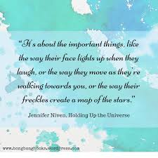 Maps To The Stars Review My Thoughts About Holding Up The Universe By Jennifer Niven Book