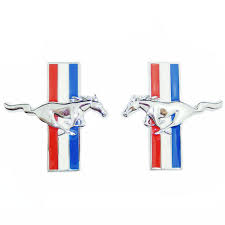 ford mustang emblem anteke 2pcs door fender 3d emblem auto sticker running for