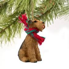 airedale terrier miniature ornament home kitchen