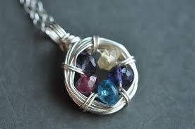 grandmother birthstone necklace family nest s grandmother s 5 birthstone necklace mu