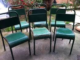 chaises m tal chaise metal vintage chaise bar vintage de en m tal gris anthracite