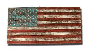 american flag weathered wood one of a 3d wooden vintage