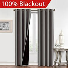 Insulated Curtains Amazon Amazon Com 100 Blackout Curtain Set Thermal Insulated U0026 Energy