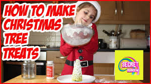 how to make christmas tree rice crispy treats for kids no bake