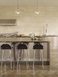 Large Tile Backsplash Kitchen Contemporary With Breakfast Bar - Large tile backsplash
