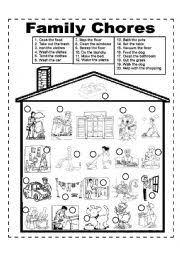 english teaching worksheets chores