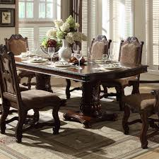 Double Pedestal Dining Room Tables Homelegance Thurmont 10 Piece Double Pedestal Dining Room Set In