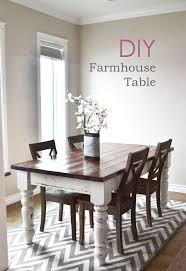 Diy White Dining Room Table Stunning Diy Farmhouse Tables The Creative