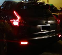 juke aftermarket tail lights led cluster mod and rear bumper reflect mod