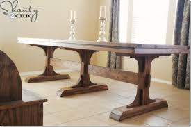 farm table plans dining room table bench on diy dining table