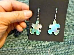 recycled cd and or duct tape puzzle earringscr aft craft to make