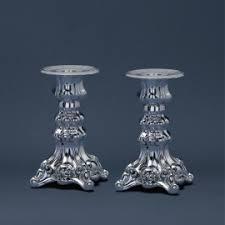 silver candlesticks shabbat candlesticks hazorfim