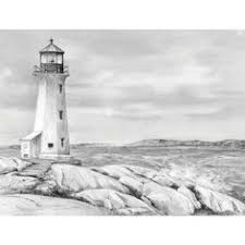 drawn lighthouse charcoal drawing pencil and in color drawn