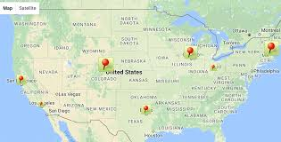 Google Map Of United States by Adding Annotations To Google Map Using Javascript And Promises