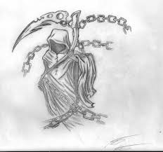 tribal grim reaper tattoo print in 2017 real photo pictures