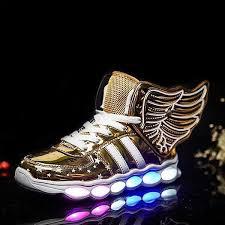 light up shoes gold high top kids gold wing led light up shoes rave rebel